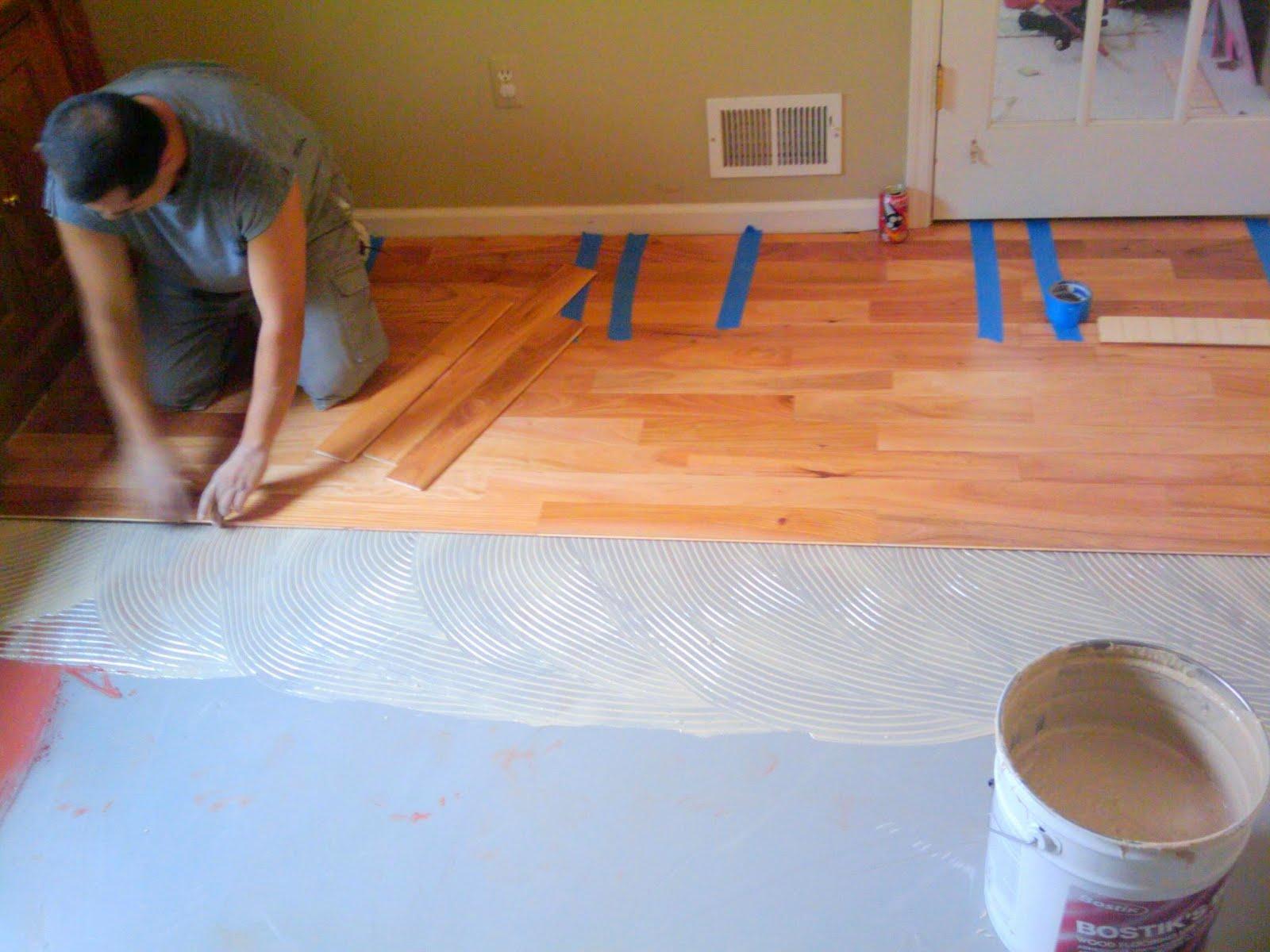 engineered floors glued down