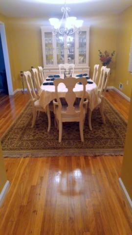 White oak hardwood floors refinished