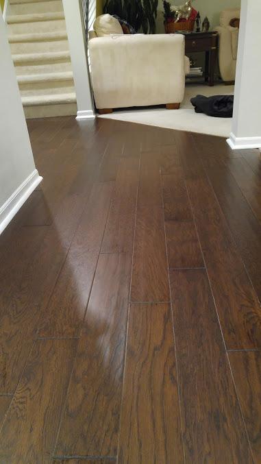 wide plank oak engineered floors in expresso