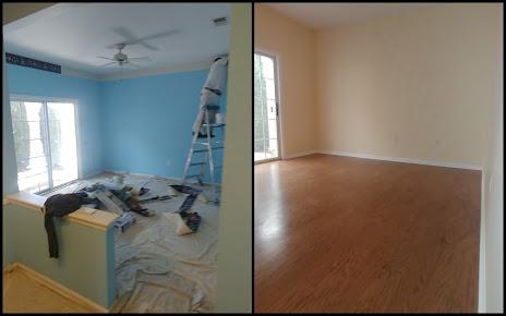 engineered flooring and painting