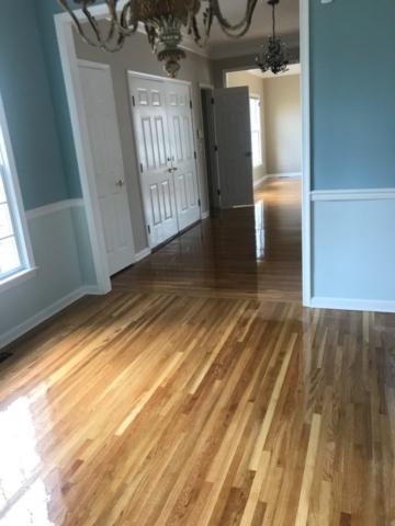 refinished white oak hardwood floors
